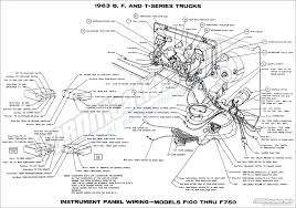 1963 ford truck wiring diagrams fordification info the 61 66 1963 b f and t series trucks instrument panel wiring models f100 thru f750