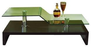bent glass coffee table modern