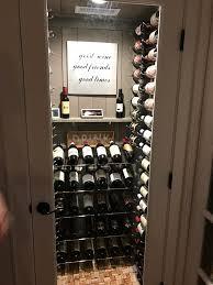 custom wine cellar closet conversion diy