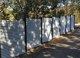 corrugated metal fence. Exellent Fence Corrugated Tin Metal Fence Around Property And Backyard Inside Corrugated Metal Fence T