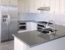 contemporary countertops dark grey quartz countertops dumound white cabinets home how tall are upper ideas 29 intended g