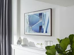 Wall Mounted Tv Frame The Frame Samsungs New 4k Tv Transforms Into Wall Art The