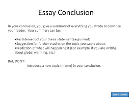 give example of essay example of a conclusion in an essay example of a conclusion for an
