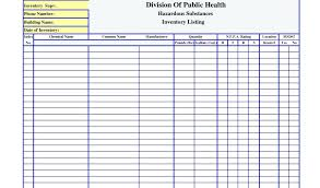 Inventory Spreadsheet Template Enchanting Msds Inventory Sheet Template Landlord Inventory Template Templates