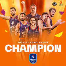 """Turkish Airlines EuroLeague on Twitter: """"The 2020-21 EuroLeague CHAMPION...  🏆 @AnadoluEfesSK 🏆 #F4GLORY… """""""