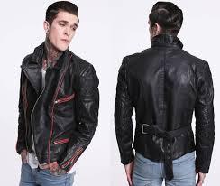 cool vintage leather biker jacket for men