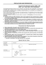 NISSAN PATROL 1998 Y61 / 5.G Steering System Workshop Manual