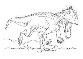 Small Picture Jurassic park coloring pages indominus rex ColoringStar