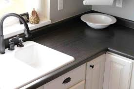 image of painting countertops with rustoleum