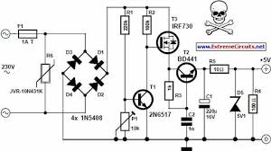 transformer less 5 volt power supply circuit project hubby Transformer Schematic Diagram transformer less 5 volt power supply circuit project isolation transformer schematic diagram