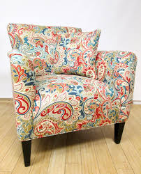 Paisley Sofa chair reupholstered in a fun paisley fabric reupholstered 2616 by uwakikaiketsu.us