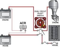 three acrs from blue sea systems blue sea systems Blue Sea Systems Battery Switch Wiring Diagram this diagram represents a typical acr installation Dual Battery Switch Wiring Diagram