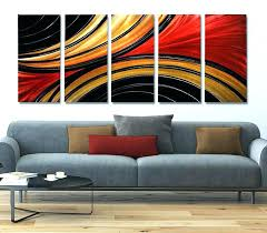 red and black wall art massive metal abstract gold painting sculpture decor uk