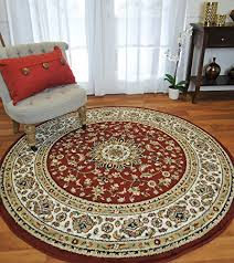 traditional rugs for living room round rugs red 6ft persian circle rug reds