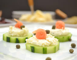 Cucumber Hors Du0027oeuvres With Garlic U0026 Fine Herbs Cheese, Smoked Salmon U0026  Capers ...