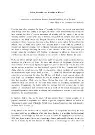 ulysses research essay 1 coitus sexuality and morality in ulysses even to do in