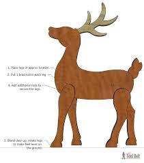 Wooden Reindeer Pattern