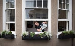 above black is hard to beat for a window box because all three of the windows are diffe lengths meredith made custom boxes for a perfect fit