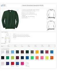 Port Company Pc78 Classic Crewneck Sweatshirt