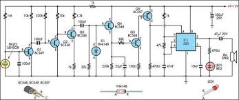 simple knock alarm piezo sensor circuit diagram simple knock alarm piezo sensor circuit schematic