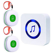 disabled For Call Theater 2 System Wireless com Waterproof patient Calling Button Caregiver 1 Receiver Audio Elderly Pager Transmitters amp; Sos Home Sanjie With Amazon Nursing At