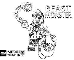 Awesome Lego Nexo Knights Coloring Pages Free Printable Lego Nexo