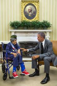 Image White House President Obama Meets The Nations Oldest Vet Emma Didlake Obama White House The Oldest Living Veteran Meets The President Whitehousegov