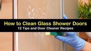 to clean glass shower doors