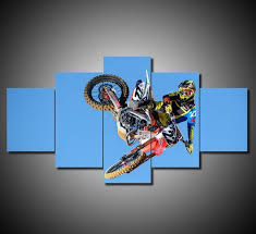 motocross supercross dirtbike air tricks stunts multi panel canvas wall art on dirt bike wall art with motocross supercross dirt bike wall art canvas mighty paintings