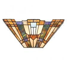tiffany style art deco glass wall washer with geometric pattern on tiffany wall lights art deco style with tiffany style wall washer with art deco geometric pattern shade