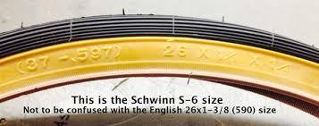 Schwinn Bike Computer Tire Size Chart 26 X 1 3 8 1 1 4 37 597 Schwinn S 6