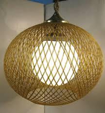 Vintage Hanging Swag Light Vintage Mid Century Modern Spun Fiberglass Hanging Swag Lamp