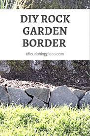 simple diy rock garden border