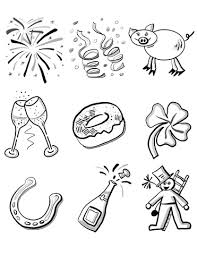 Small Picture Happy New Year coloring pages Free Coloring Pages