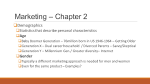 marketing chapter swot what is swot and how does it apply 16 marketing chapter 2 61553 demographics 61553 statistics that describe personal characteristics