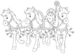 Santa Coloring Pages Along With His Friends