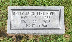 Betty Jacqueline Rhodes Pippel (1933-2013) - Find A Grave Memorial