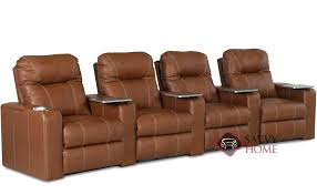 pleasantville 4 seat leather reclining home theater seating curved