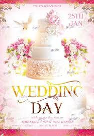 Wedding Day Psd Flyer Template