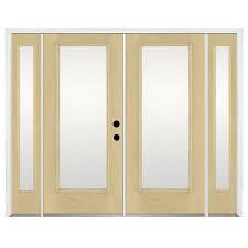 benchmark by therma tru fiberglass french patio door