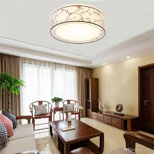 Chinese style living room ceiling Design Ideas Oovov Chinese Style Fabric Round Ceiling Light Bedroom Study Room Dining Room Ceiling Lamp 40cm 24w Dhgate 2019 Oovov Chinese Style Fabric Round Ceiling Light Bedroom Study