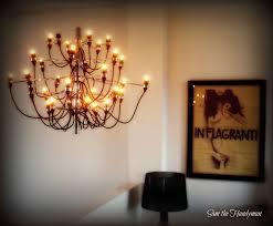 led chandelier installation