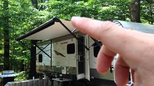 how an rv electric awning works demonstration