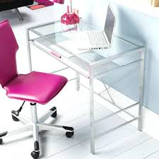 pink computer desk computer desk glass top student home office table modern furniture kids pink new