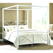 Home Styles Bedford Black Queen Wood Canopy Bed Frame Queen Good ...