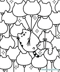 Pusheen Coloring Pages At Getdrawingscom Free For Personal Use