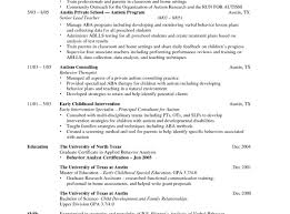 Autism Resume Examples Massage Therapist Resume Examples Sevte 19