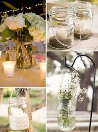 Mason Jar Decorating Ideas For Weddings Rustic Wedding Ideas Mason Jars Decoration Above mason jar 2