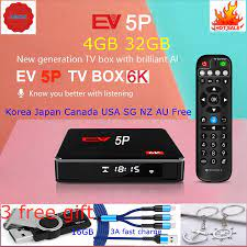 2020 EV tvbox 5P 6K AI VOICE dual WIFI smart tv box hot sell in Japan Korea  USA Canada NZ