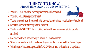 A complete guide to the where to buy coronavirus antibody tests and how much they cost can. New Low Cost Covid 19 Test Sites On Cape Cod Barnstable County Barnstable County